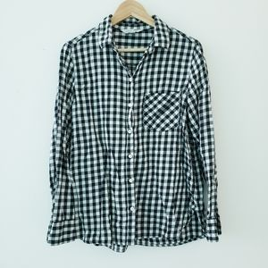 Old Navy Cotton Flannel Checker Long Sleeve Shirt